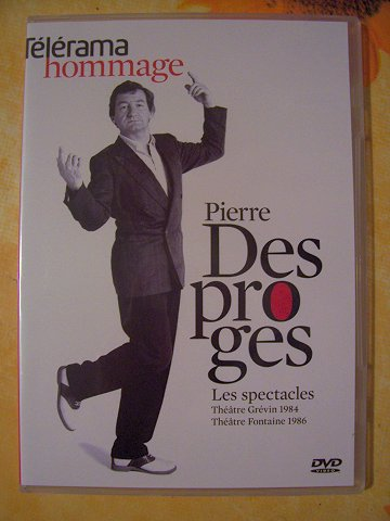 DVD spectacles de Pierre Desproges