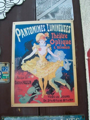plaque pantomime à Chinon